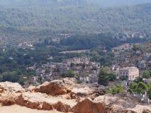 Ciudad del fantasma de Levissi Kayakoy foto de archivo