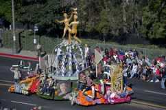 Ciudad del flotador de la esperanza en Rose Parade Imagen de archivo