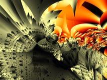 Ciudad del fractal Imágenes de archivo libres de regalías