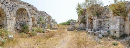 Ciudad del griego clásico de Miletus en Didim, Aydin, Turquía fotografía de archivo