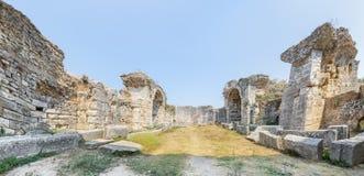 Ciudad del griego clásico de Miletus en Didim, Aydin, Turquía imágenes de archivo libres de regalías