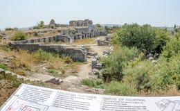 Ciudad del griego clásico de Miletus en Didim, Aydin, Turquía fotos de archivo libres de regalías