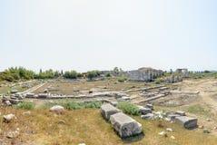 Ciudad del griego clásico de Miletus en Didim, Aydin, Turquía imagen de archivo libre de regalías