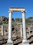 Ciudad del griego clásico de Perga, Antalya. Foto de archivo