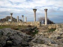 Ciudad del griego clásico el Chersonese Fotos de archivo