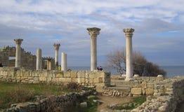 Ciudad del griego clásico el Chersonese Imágenes de archivo libres de regalías
