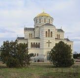 Ciudad del griego clásico el Chersonese La catedral de Volodimir Imágenes de archivo libres de regalías