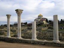 Ciudad del griego clásico el Chersonese La catedral de Volodimir Fotografía de archivo libre de regalías