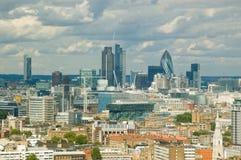 Ciudad del horizonte de Londres Foto de archivo