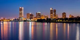 Ciudad del horizonte de Milwaukee. Foto de archivo libre de regalías