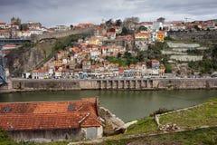 Ciudad del horizonte de Oporto Foto de archivo libre de regalías