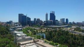 Ciudad del horizonte de Perth almacen de metraje de vídeo
