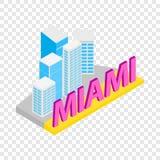 Ciudad del icono isométrico de Miami Foto de archivo libre de regalías