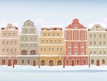 Ciudad del invierno Fotos de archivo libres de regalías