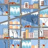 Ciudad del invierno Fotografía de archivo