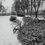 Ciudad del invierno Foto de archivo libre de regalías