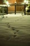 Ciudad del invierno de la tarde Foto de archivo