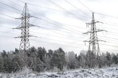Ciudad del invierno en Europa del este Fotografía de archivo
