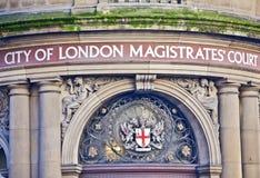 Ciudad del juzgado de primera instancia de Londres Foto de archivo libre de regalías