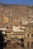 Ciudad del La Paz en Bolivia Imagen de archivo libre de regalías