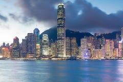 Ciudad del negocio central de Hong Kong céntrico Imágenes de archivo libres de regalías