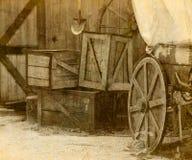 Ciudad del oeste salvaje del vaquero Foto de archivo libre de regalías
