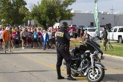 Ciudad del oficial de policía del Topeka Kansas Imagen de archivo libre de regalías