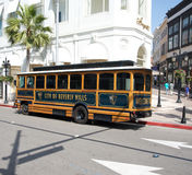 Ciudad del omnibus de Beverly Hills en mecanismo impulsor del rodeo Foto de archivo
