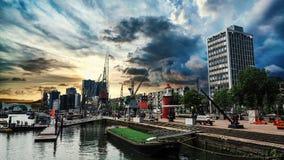 Ciudad del paisaje de Rotterdam Imágenes de archivo libres de regalías
