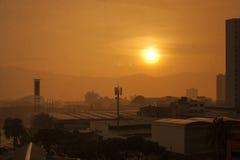 Ciudad del paisaje - Paisaje Ciudad Fotografía de archivo