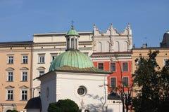 Ciudad del paisaje urbano histórico de Kraków Imagen de archivo libre de regalías