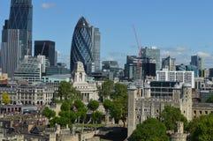 Ciudad del panorama de Londres Foto de archivo libre de regalías