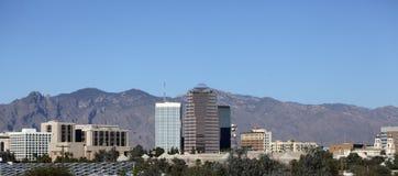 Ciudad del panorama de Tucson, AZ Foto de archivo libre de regalías