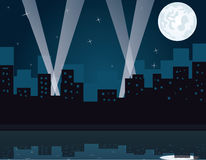 Ciudad del partido en la noche Imagen de archivo
