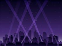 Ciudad del partido en la noche ilustración del vector