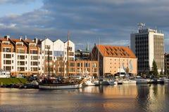 Ciudad del puerto de Gdansk Imagen de archivo libre de regalías