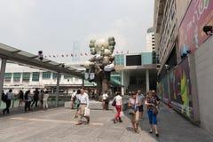 Ciudad del puerto en Hong Kong Fotos de archivo libres de regalías