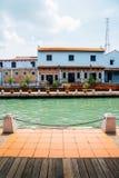 Ciudad del río de Malaca, sitio del patrimonio mundial de la UNESCO en Malasia imagen de archivo