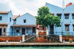 Ciudad del río de Malaca, sitio del patrimonio mundial de la UNESCO en Malasia imagen de archivo libre de regalías