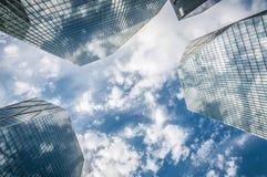 Ciudad del rascacielos Fotos de archivo libres de regalías