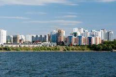 Ciudad del Samara con el río Volga imagen de archivo libre de regalías