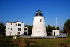 Ciudad del St. Maria, MD: Faro penoso de la punta Fotografía de archivo