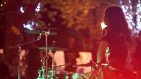 Ciudad del tambor de la calle de la música metrajes