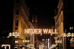 Ciudad del tiempo de la Navidad de Hamburgo Foto de archivo libre de regalías