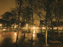 Ciudad del timelapse de la noche almacen de metraje de vídeo
