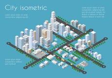 Ciudad del transporte 3D ilustración del vector