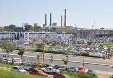 Ciudad del uptown de Bucarest Imagenes de archivo