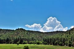 Ciudad del valle de la estrella, Gila County, Arizona, Estados Unidos, bosque del Estado de Tonto Imágenes de archivo libres de regalías