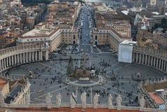 Ciudad del Vaticano, cuadrado del ` s de San Pedro Imagen de archivo libre de regalías