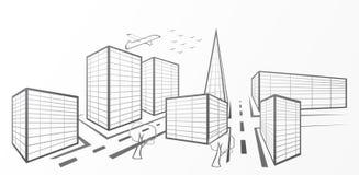 Ciudad del vector Imágenes de archivo libres de regalías
